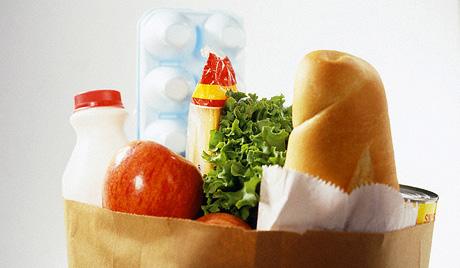 продукты еда продуктовая корзина пакет покупка питание магазин продовольствие