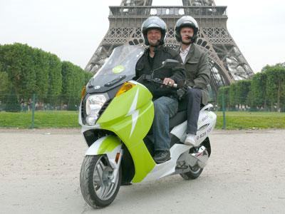 Скутеры такси в Париже