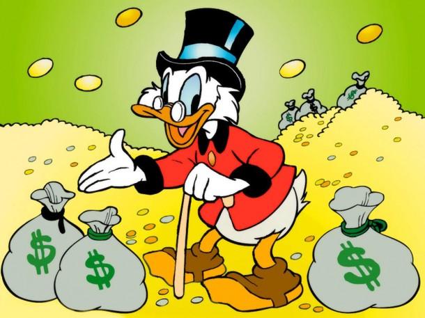 Скрудж Макдак - первый в списке самых богатых по версии Forbes