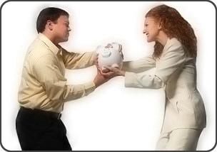 3. Fight over money