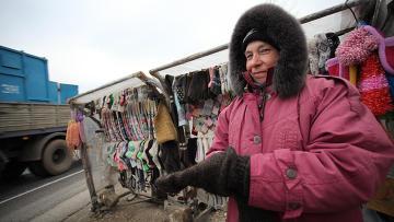Вязальщица из деревни Ямбирно Рязанской области