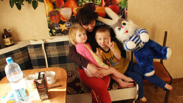 Одна из многодетных семей Костромской области