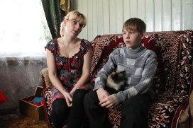 Светлана Кудрявцева с сыном