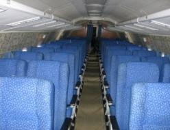 Салон самолета Ту-134. Фото: kosmos-air.com