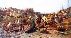 К.А. Савицкий. Ремонтные работы на железной дороге. 1874 г.