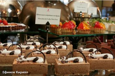 """Отель """"Астория"""", гостиная """"Ротонда"""". Ресторан, кондитерская, пирожное, шоколадно-кофейные пти-фуры."""