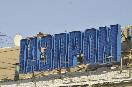 Россия, Санкт-Петербург. Рекламный щит &amp;quot;Газпрома&amp;quot; и пустой рекламный баннер на пересечении Невского проспекта и Садовой улицы<br />                         (Фото: Чевалков Сергей)<br />