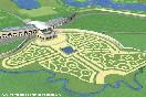 """Проект гольф–клуба """"Михайловка"""" был разработан в2009г. Комплекс сполем на18 лунок планировали разместить на130 га земли."""