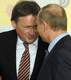 Борис Титов и Владимир Путин. Фото ИТАР-ТАСС, Артем Коротаев